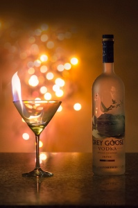 Grey Goose alcohol with lights (photo via Flickr/Rose)