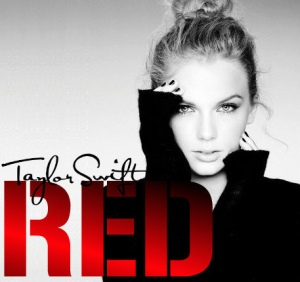 Taylor Swift and her album cover of RED (Photo via Flickr/ taylorswiftgirl88)